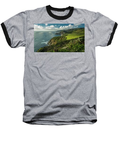 Bixby Bridge On The Coast Baseball T-Shirt
