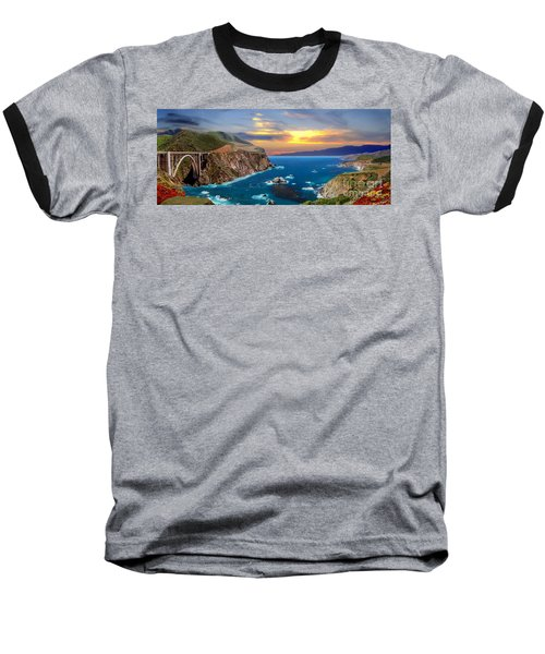 Baseball T-Shirt featuring the photograph Bixby Creek Bridge by David Zanzinger