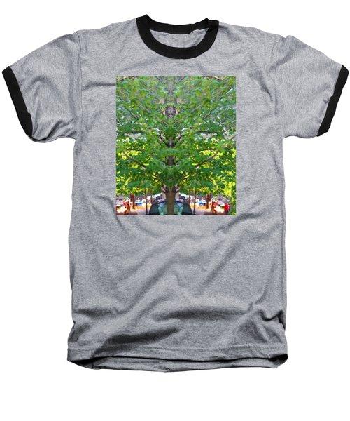 Bizarre Fun Tree Baseball T-Shirt