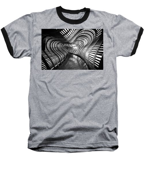 Black Abstract Hall Baseball T-Shirt