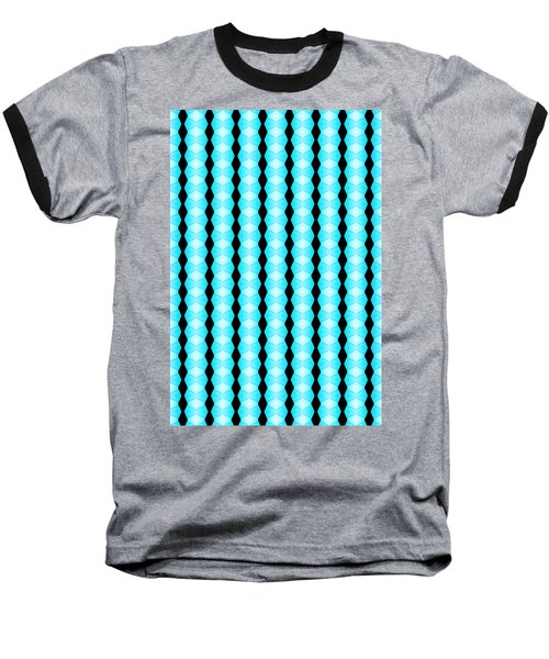 Black And Blue Diamonds Baseball T-Shirt by Bob Wall