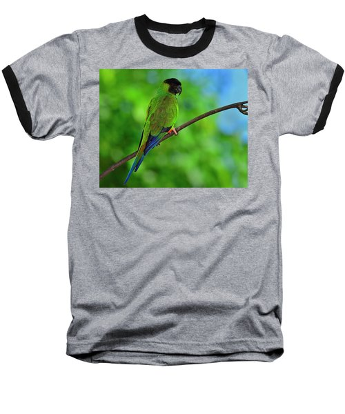 Baseball T-Shirt featuring the photograph Black And Blue by Tony Beck