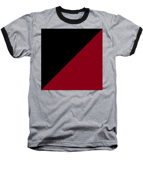 Black And Burgundy Triangles Baseball T-Shirt