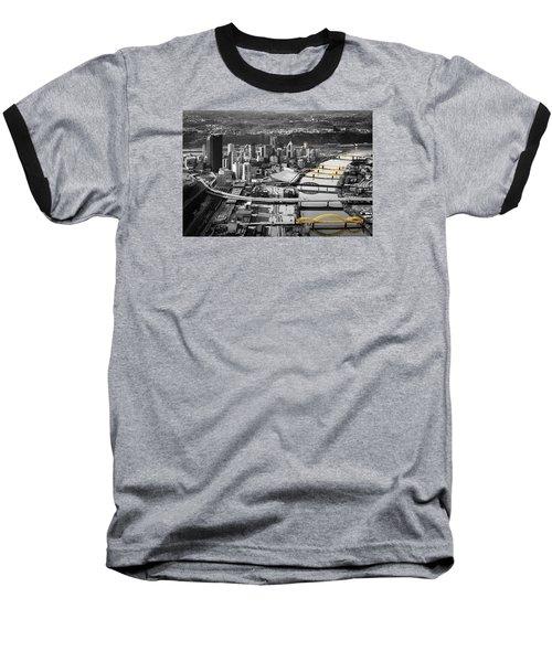 Black And Gold Pittsburgh  Baseball T-Shirt by Emmanuel Panagiotakis