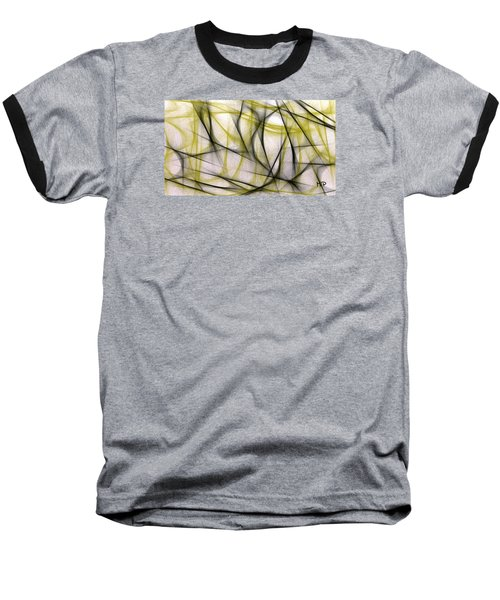 Black And Green Abstract Baseball T-Shirt