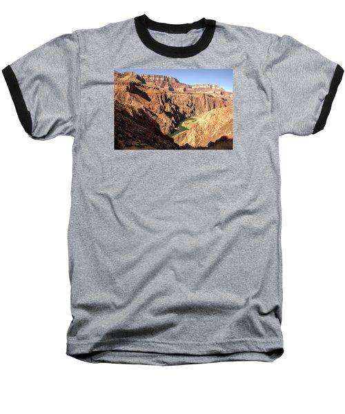 Black And Silver Bridges Spanning The Colorado River  Grand Canyon National Park Baseball T-Shirt