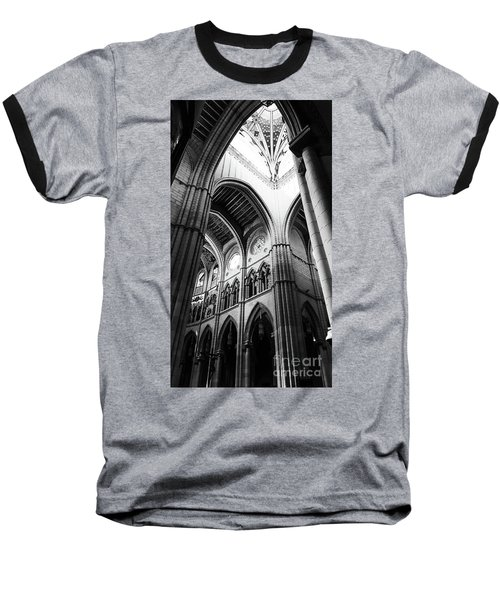 Black And White Almudena Cathedral Interior In Madrid Baseball T-Shirt
