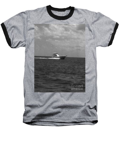 Black And White Boating Baseball T-Shirt