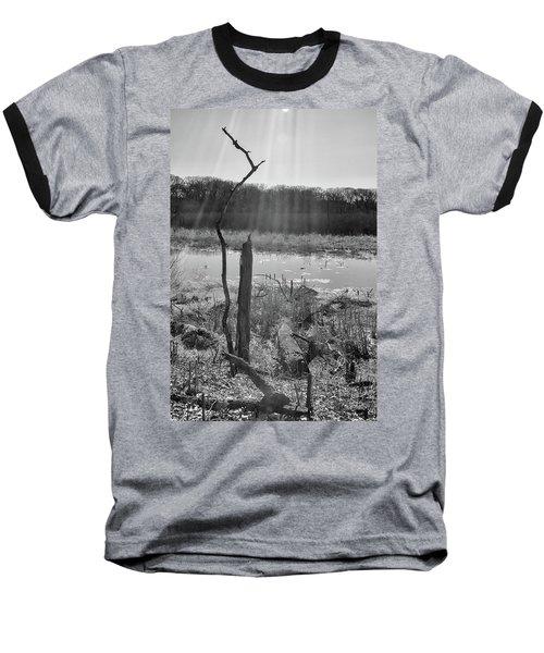 Black And White Bog Baseball T-Shirt