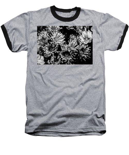 Black And White Bouquet Baseball T-Shirt