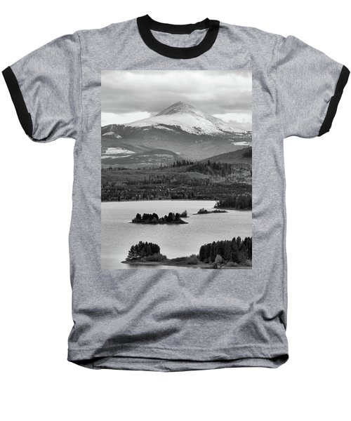 Baseball T-Shirt featuring the photograph Black And White Breckenridge by Dan Sproul