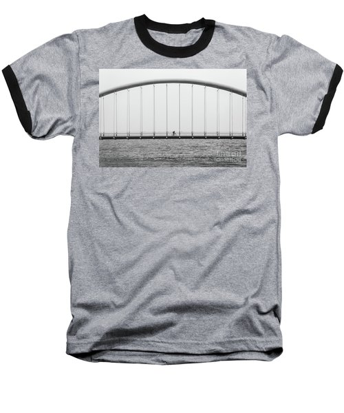 Baseball T-Shirt featuring the photograph Black And White Bridge by MGL Meiklejohn Graphics Licensing