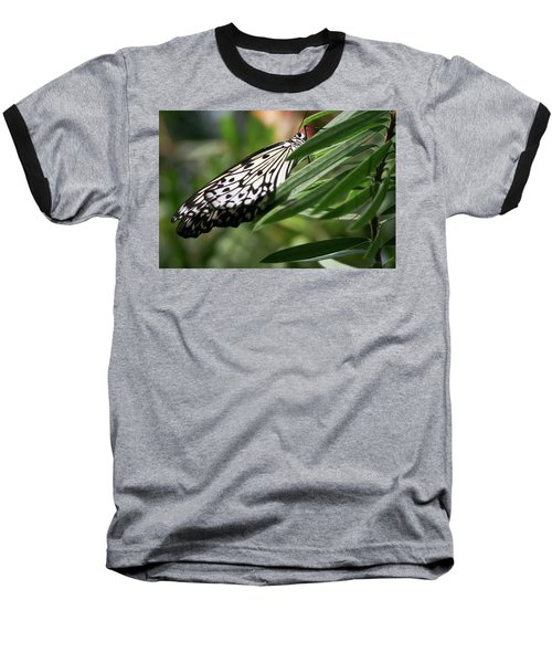 Black And White Butterfly -  Baseball T-Shirt
