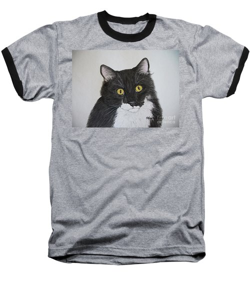 Black And White Cat Baseball T-Shirt