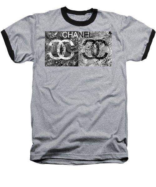Black And White Chanel Art Baseball T-Shirt