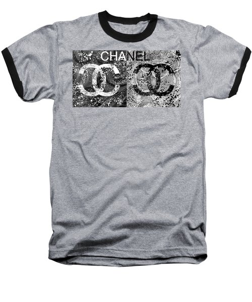 Black And White Chanel Art Baseball T-Shirt