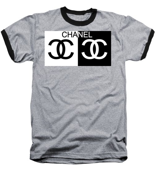 Black And White Chanel Baseball T-Shirt