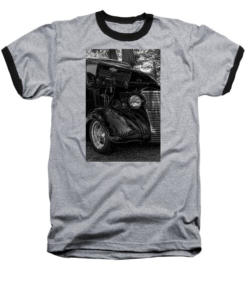 Baseball T-Shirt featuring the photograph Black And White Chevrolet by Trey Foerster