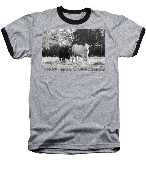 Black And White Cows Baseball T-Shirt