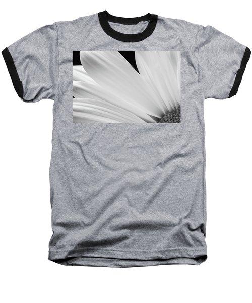 Black And White Daisy Flower Peeking Baseball T-Shirt