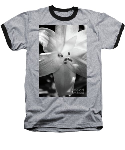 Black And White Easter Lily Baseball T-Shirt