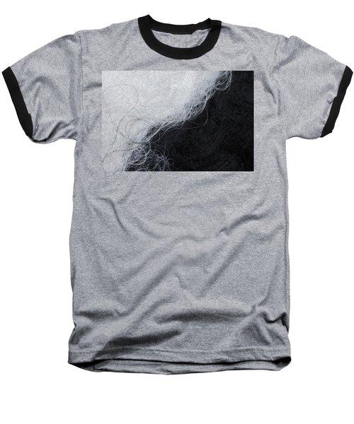 Black And White Fibers - Yin And Yang Baseball T-Shirt