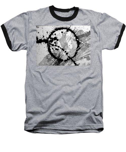 Black And White Five Baseball T-Shirt by Tracy Bonin