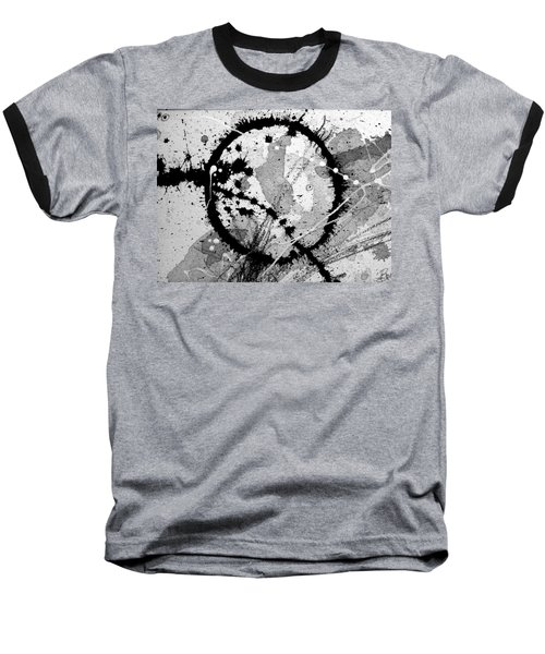 Black And White Five Baseball T-Shirt
