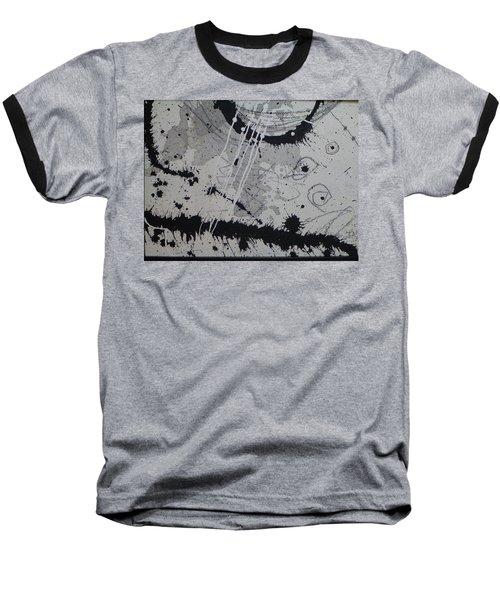 Black And White Four Baseball T-Shirt by Tracy Bonin