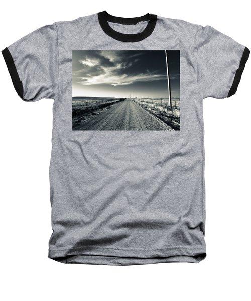 Black And White Gravel Baseball T-Shirt