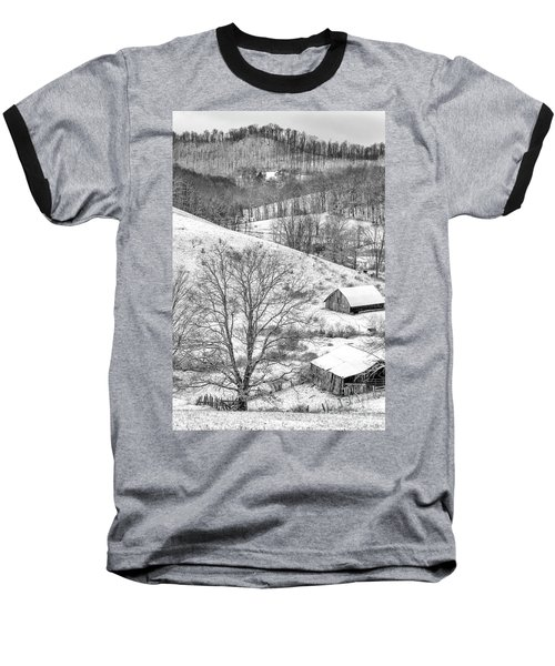 Black And White In Winter Baseball T-Shirt