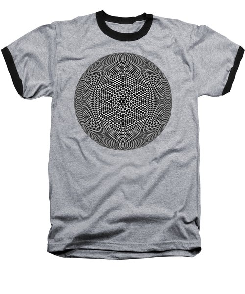 Black And White Mandala 10 Baseball T-Shirt