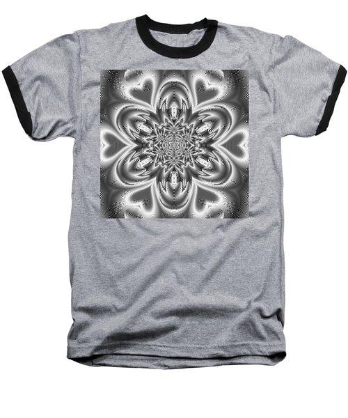 Baseball T-Shirt featuring the digital art Black And White Mandala 9 by Robert Thalmeier