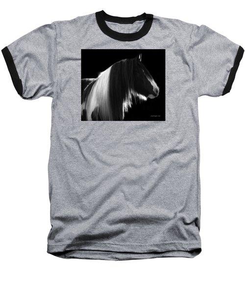 Black And White Mare Baseball T-Shirt