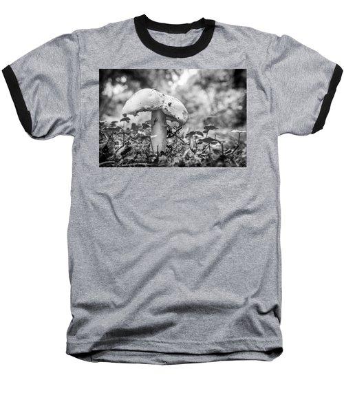 Black And White Mushroom. Baseball T-Shirt