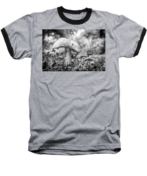 Black And White Mushroom. Baseball T-Shirt