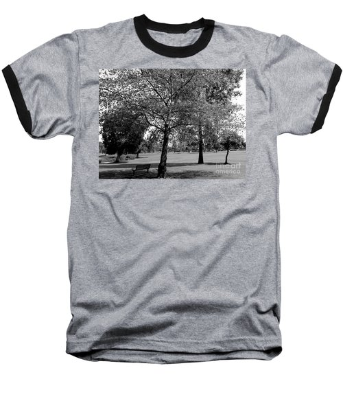 Black And White Nature Baseball T-Shirt