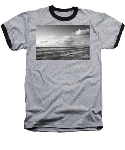 Black And White Ocean Scene Baseball T-Shirt