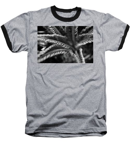 Black And White Palm Abstract 3624 Bw_2 Baseball T-Shirt