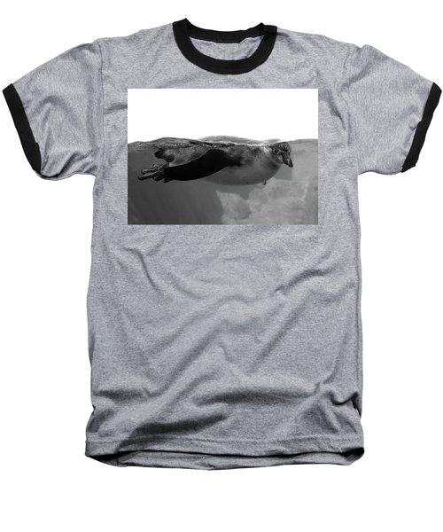 Black And White Penguin Baseball T-Shirt