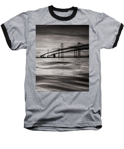 Baseball T-Shirt featuring the photograph Black And White Reflections 2 by Jennifer Casey
