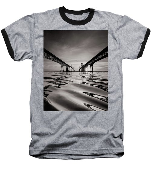 Black And White Reflections Baseball T-Shirt