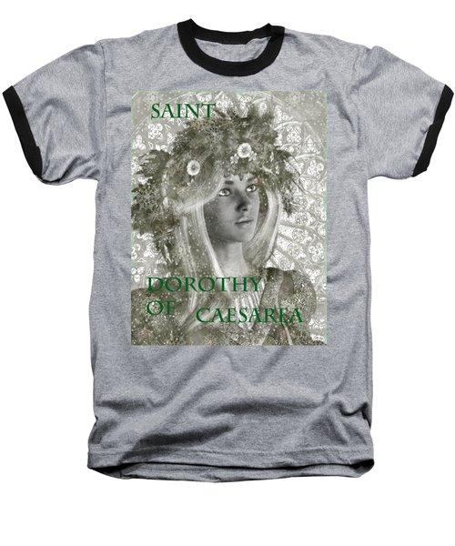 Black And White Saint Dorothy Baseball T-Shirt