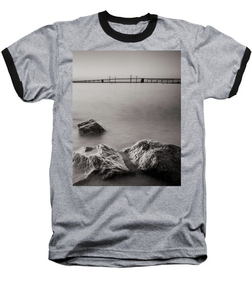 Baseball T-Shirt featuring the photograph Black And White Sandy Point by Jennifer Casey
