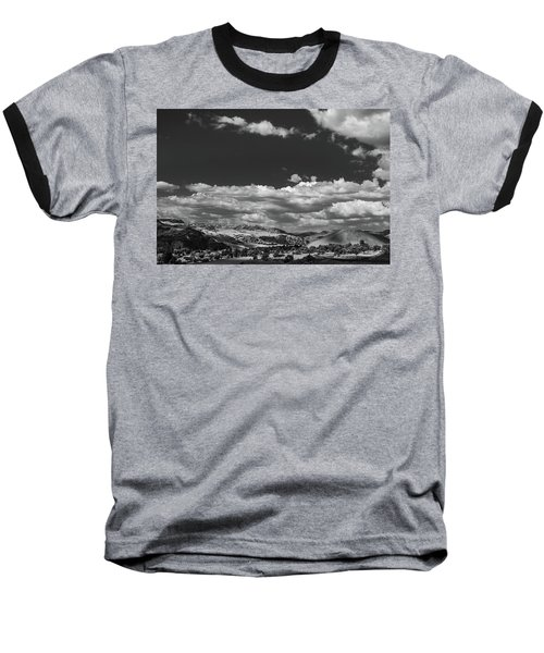 Black And White Small Town  Baseball T-Shirt