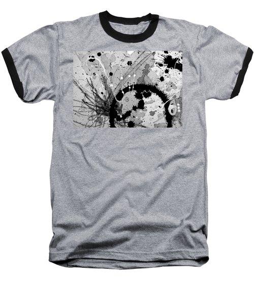 Black And White Three Baseball T-Shirt