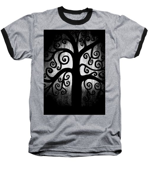 Black And White Tree Baseball T-Shirt