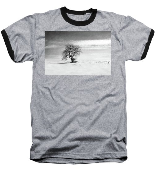 Black And White Tree In Winter Baseball T-Shirt
