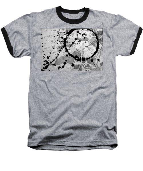 Black And White Two Baseball T-Shirt by Tracy Bonin