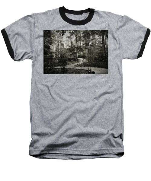 Black And White Vintage Edit -walk In Peace  Baseball T-Shirt